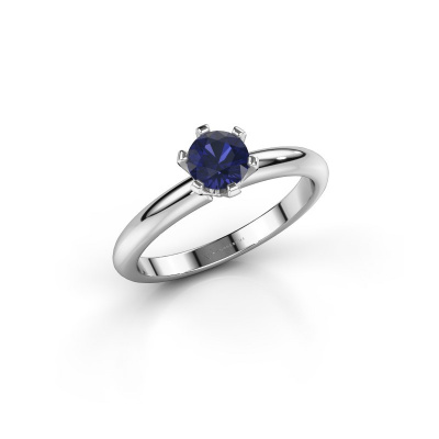 Picture of Engagement ring Tiffy 1 925 silver sapphire 5 mm
