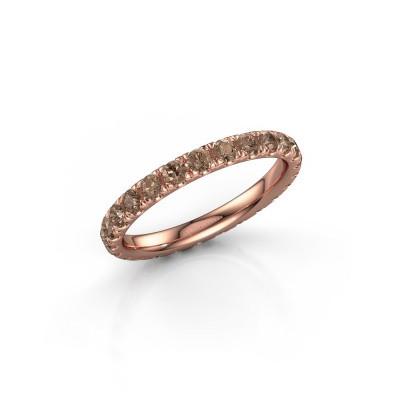 Foto van Ring Jackie 2.3 375 rosé goud bruine diamant 1.25 crt