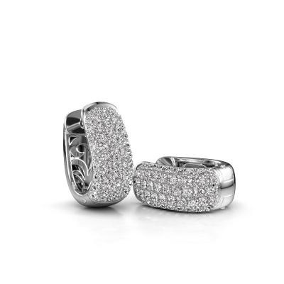 Foto van Creolen Danika 8.5 B 585 witgoud diamant 1.554 crt