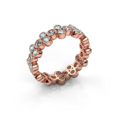 Bague Victoria 585 or rose diamant synthétique 0.66 crt