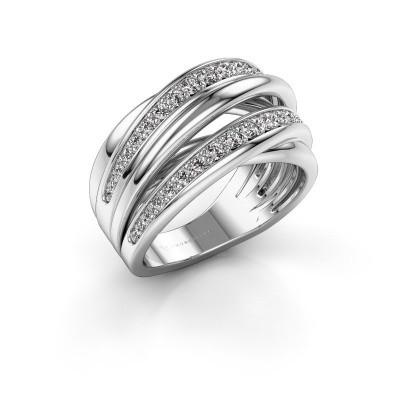 Ring Marylouise 2 950 platina zirkonia 1.2 mm