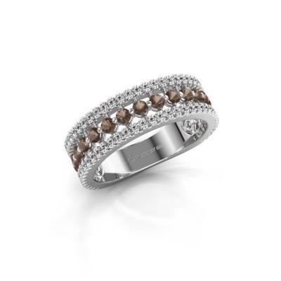 Verlovingsring Elizbeth 1 925 zilver rookkwarts 2 mm