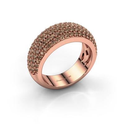 Bild von Ring Cristy 585 Roségold Braun Diamant 1.425 crt