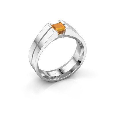 Foto van Heren ring Stefan 375 witgoud citrien 4.5 mm