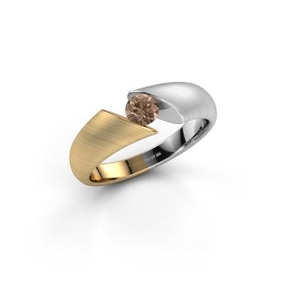 Foto van Ring Hojalien 1 585 goud bruine diamant 0.30 crt
