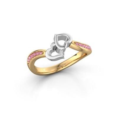 Ring Xaviera 585 Gold Pink Saphir 1.5 mm