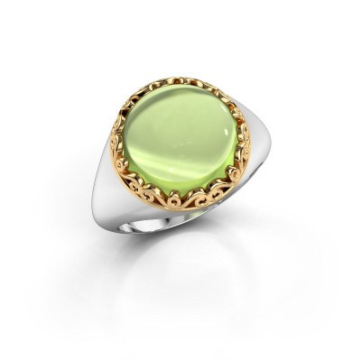 Ring Birgit 585 witgoud peridoot 12 mm
