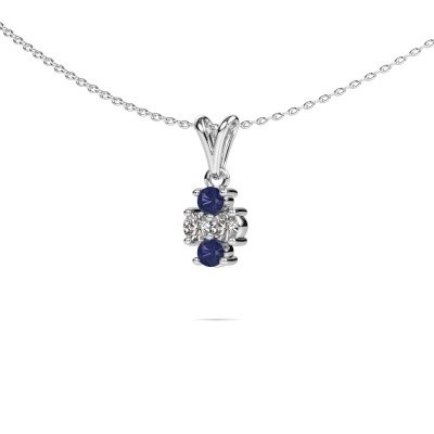 Picture of Necklace Richelle 950 platinum sapphire 3 mm