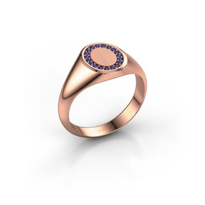 Pinky ring Floris Oval 1 375 rose gold sapphire 1.2 mm