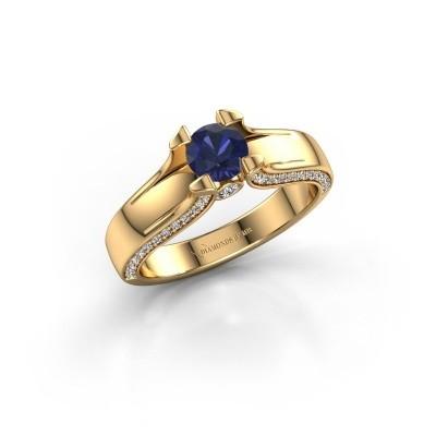 Verlovingsring Jeanne 1 375 goud saffier 5 mm