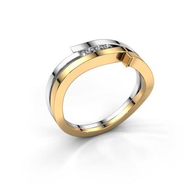 Ring Amelie 585 gold lab-grown diamond 0.053 crt