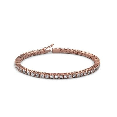 Tennis bracelet Petra 375 rose gold lab grown diamond 5.10 crt