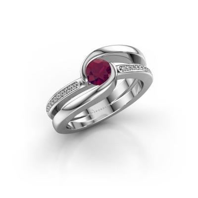 Foto van Ring Xenia 2 925 zilver rhodoliet 5 mm