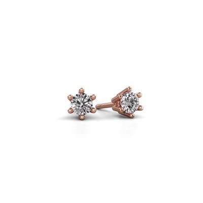 Foto van Oorbellen Fay 375 rosé goud diamant 0.25 crt