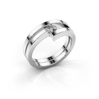 Ring Nikia 925 zilver diamant 0.30 crt