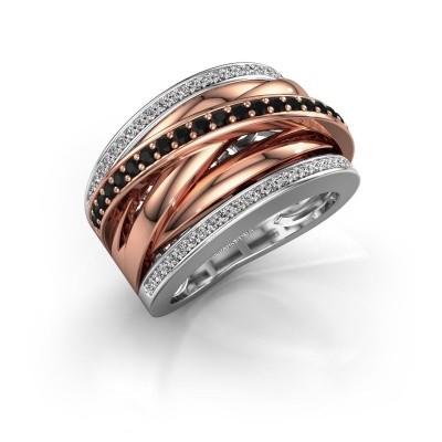 Foto van Ring Clair 2 585 witgoud zwarte diamant 0.628 crt