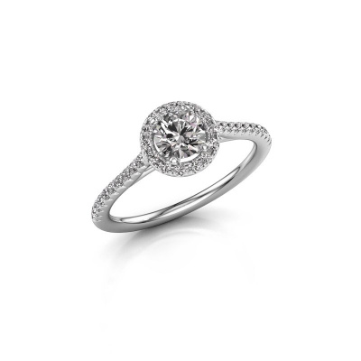 Picture of Engagement ring Seline rnd 2 925 silver diamond 0.755 crt