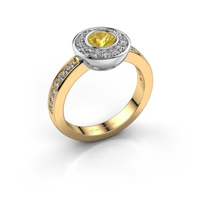 Ring Ivy 585 gold yellow sapphire 5 mm