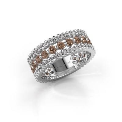 Engagement ring Elizbeth 2 925 silver brown diamond 1.785 crt