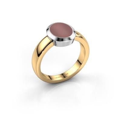 Pinkring Oscar 1 585 goud carneool 10x8 mm