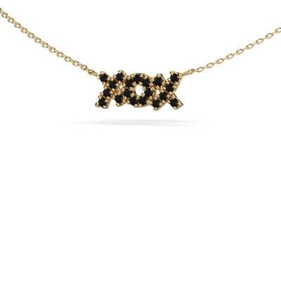Ketting XoX 375 goud zwarte diamant 0.342 crt