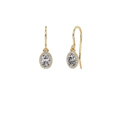 Ohrhänger Seline ovl 375 Gold Lab-grown Diamant 1.16 crt
