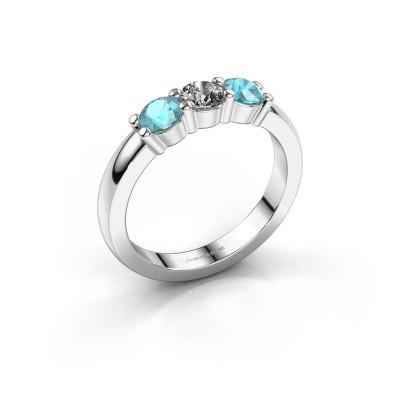 Verlobungsring Yasmin 3 585 Weißgold Diamant 0.25 crt