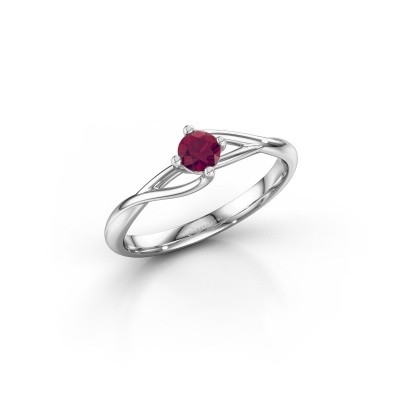 Picture of Engagement ring Paulien 925 silver rhodolite 4 mm