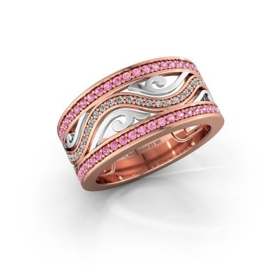 Ring Louvenia 585 rose gold pink sapphire 1.2 mm