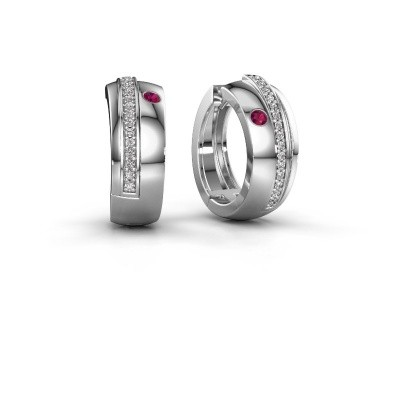 Picture of Hoop earrings Shakita 585 white gold rhodolite 2 mm