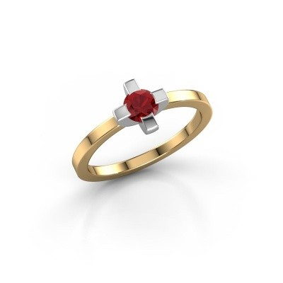 Ring Therese 585 goud robijn 4.2 mm