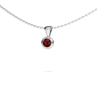 Picture of Necklace Lieke 585 white gold garnet 4 mm