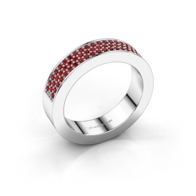 Ring Lindsey 2 925 silver ruby 1.1 mm