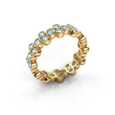 Ring Victoria 375 gold aquamarine 2.4 mm