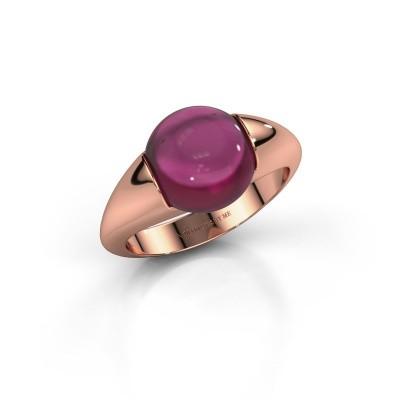 Foto van Ring Robine 375 rosé goud rhodoliet 10 mm