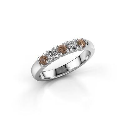Foto van Aanzoeksring Rianne 5 585 witgoud bruine diamant 0.40 crt