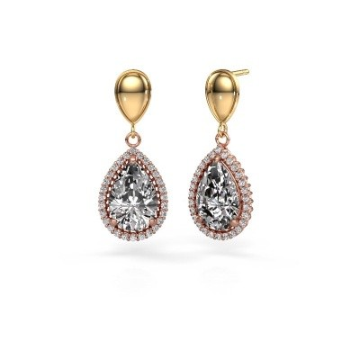 Picture of Drop earrings Cheree 1 585 rose gold diamond 6.42 crt