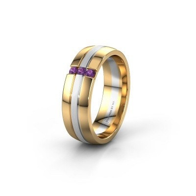 Wedding ring WH0426L26A 585 gold amethyst ±6x1.7 mm