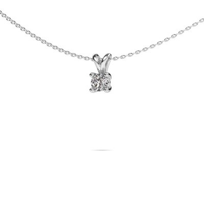 Picture of Necklace Sam round 585 white gold lab-grown diamond 0.30 crt