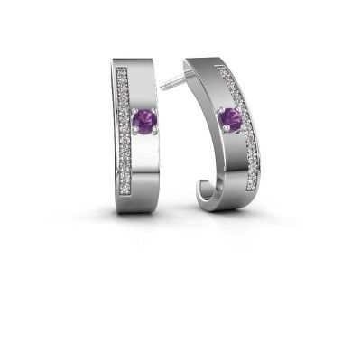 Picture of Earrings Vick1 925 silver amethyst 2.4 mm