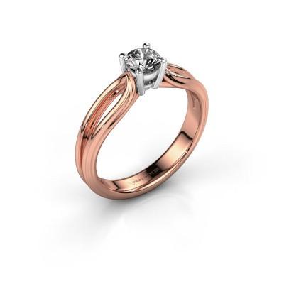 Verlobungsring Antonia 1 585 Roségold Diamant 0.40 crt