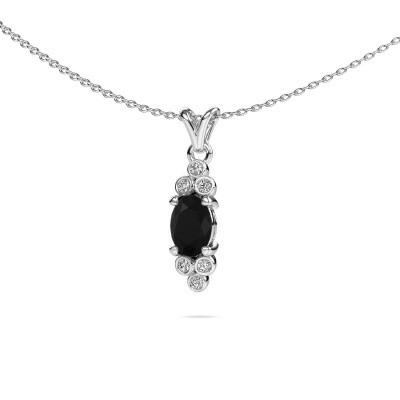 Foto van Hanger Lucy 2 950 platina zwarte diamant 1.05 crt