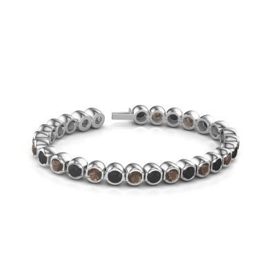 Tennisarmband Delma 585 witgoud rookkwarts 5 mm