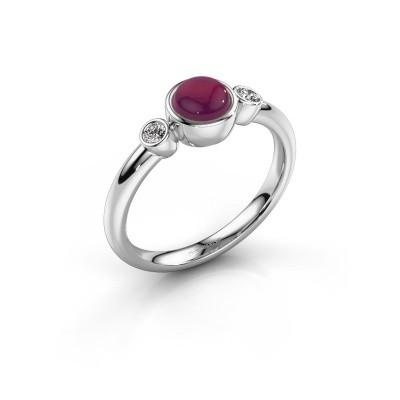 Ring Muriel 925 zilver rhodoliet 5 mm