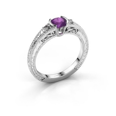 Picture of Engagement ring Anamaria 950 platinum amethyst 5 mm