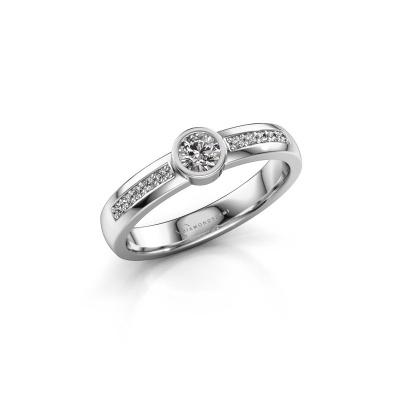 Engagement ring Ise 2 950 platinum diamond 0.45 crt
