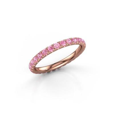 Foto van Aanschuifring Jackie 2.0 375 rosé goud roze saffier 2 mm