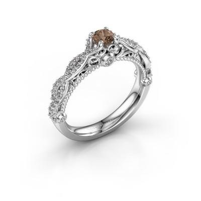 Foto van Verlovingsring Chantelle 950 platina bruine diamant 0.606 crt