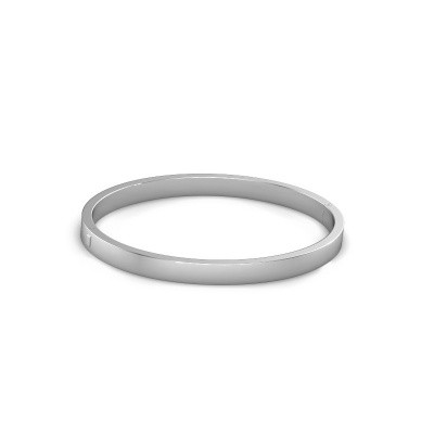 Photo de Bracelet jonc Edra 8mm 950 platine