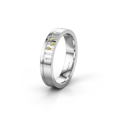 Friendship ring WH0332L14X 925 silver yellow sapphire ±0.16x0.06 in